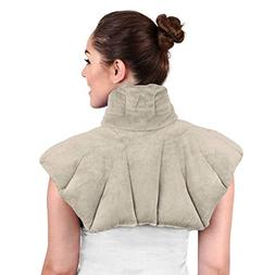 Large Microwaveable Heating Pad for Neck and Shoulders, Neck
