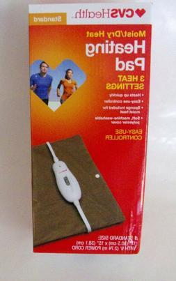 MOIST / Dry Electric Heating Pad 3 Heat Settings Standard Si