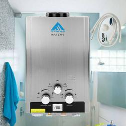 Natural Gas Hot Water Heater Stainless Steel 2GPM 8L Tankles