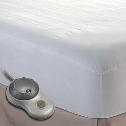 NEW Sunbeam Heated Mattress Pad   Polyester, 10 Heat Setting