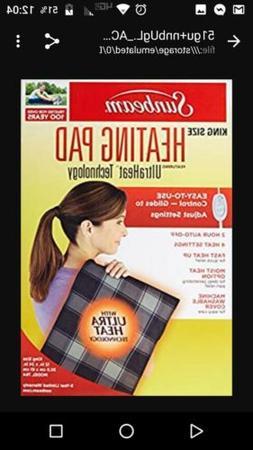 New in box Sunbeam 764-511 12x24 inch Heating Pad -  Brown P