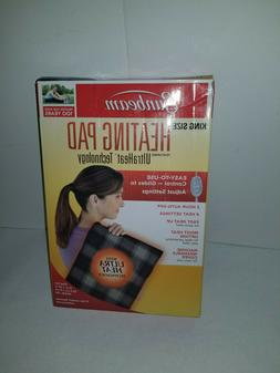 NEW Sunbeam King-Size Moist/Dry Heating Pad with UltraHeat T