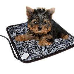 Pet Heating Pad, Uni_Uni Puppy Dog Cat Electric Heated Bed T