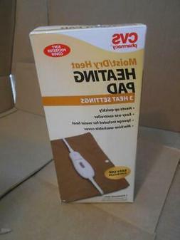 CVS PHARMACY Moist/Dry Heat Heating Pad Therapy 3 Settings 1