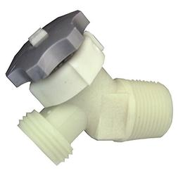 LASCO 40-0911 Plastic Water Heater Drain Valve with 5/8-Inch