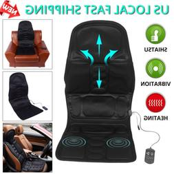 Portable Heat Massager Chair Cushion Vibrating Seat Pad Car