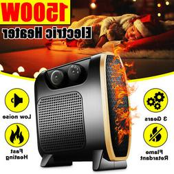 Portable Space Heater-1500W Electric Heater with 3 Level Adj