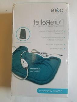 purerelief neck and shoulder heating pad turquoise