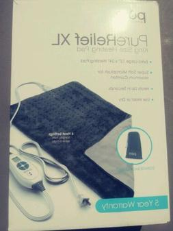 PureRelief XL - King Size Heating Pad with Fast-Heating Tech