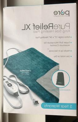 purerelief xl king size heating pad charcoal