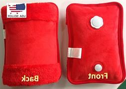 Red Rechargeable Portable Personal Heating Pad/Pack W/Person