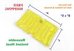 Reusable Instant Heat Pack Pad Sore Back Neck Shoulders Abdo