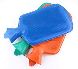 Natural Rubber Classic Hot Water Bottle For Pain Relief, 3 P