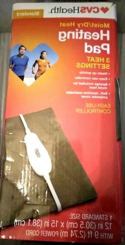 STANDARD SIZE CVS HEALTH Moist/Dry Heat, Heating Pad with 3