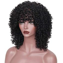 synthetic afro curly hair wigs