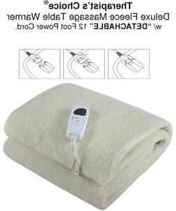 Therapist's Choice Deluxe Fleece Massage Table Warmer, w/D