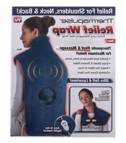 Thermapulse Relief Wrap In Blue Extra-Long Massaging Heat Wr