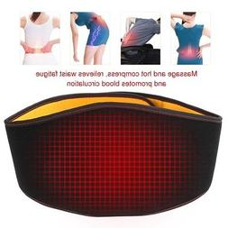 USB Back Belt Waist Heating Pad Hot Cold Brace Pain Relief M