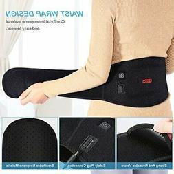 USB Heating Heated Waist Lumbar Brace Support Belt Therapy P