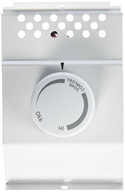 Cadet Baseboard Mount Thermostat 120 / 240 V 17 A 2 Pole Whi