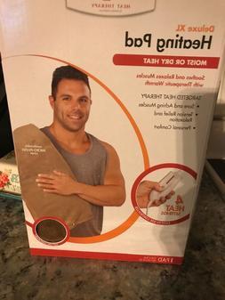 XL Heating Pad Moist, Dry Back Legs Neck & Shoulders - 4 hea