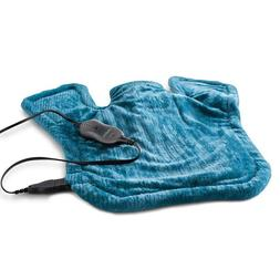 Sunbeam XL Renue Heat Therapy Wrap Heating Pad Blue Neck Sho