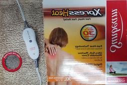 """Sunbeam Xpress Heat Fast Heating Pad XLarge 12""""x24"""" Tan"""