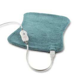 Sunbeam Xpressheat Hourglass-Shaped Heating Pad, Jade
