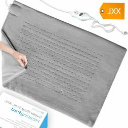 XXL Electric Heating Pad - Moist & Dry Heat Therapy - Fast N