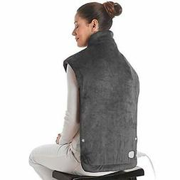 XXX-Large Heating Pad Wrap, Extra Long for Neck Shoulders Wh